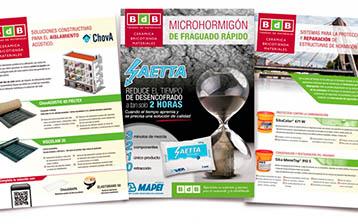 La colección de folletos técnicos BdB se completa con las soluciones de Chova, SIKA y MAPEI.